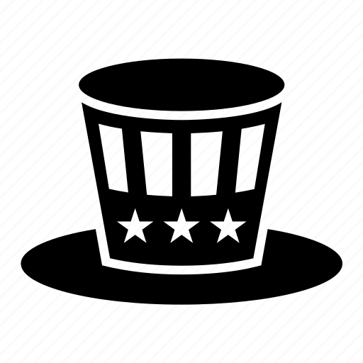 4th july, america, american, hat, politics, united states, usa icon