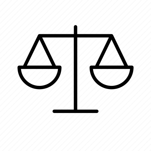 justice, scale, scales, weighing, weighing scale, weighing scales icon