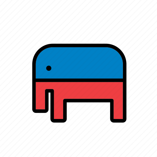 american, elections, elephant, politics, presidential, republican party, united states icon