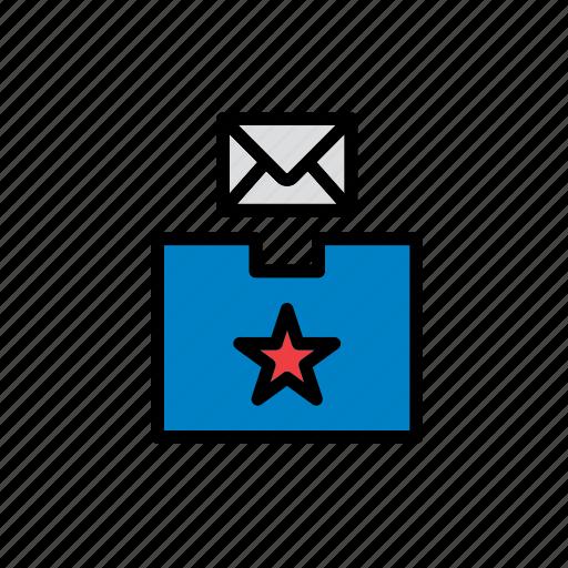 american, ballot box, elections, envelope, politics, united states, vote icon