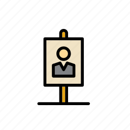 advertising, candidate, elections, politics, poster, sign icon