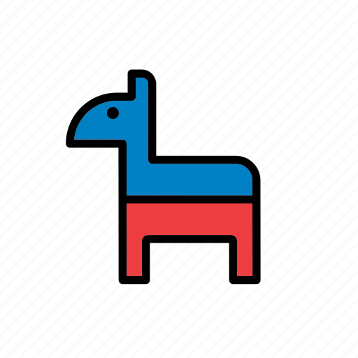 american, democratic party, donkey, elections, politics, presidential, united states icon