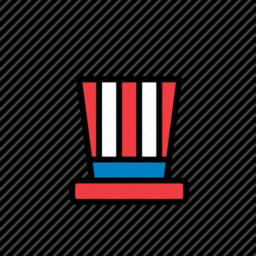4th july, america, american, celebration, hat, states, united icon
