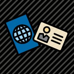 card, id, identification, identity, passport icon