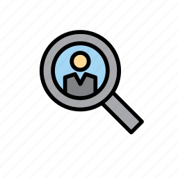 candidate, election, elections, magnifying glass, people, person icon