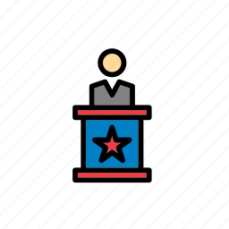 american, candidate, election, elections, lectern, politics, presidential icon