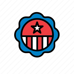 4th july, america, american, badge, united states, us, usa icon