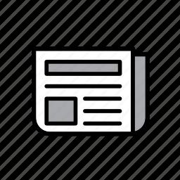 info, information, journalism, news, newspaper, paper, publication icon