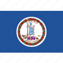 flag, state, us, virginia icon