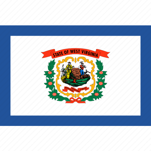 america, flag, state, virginia, west icon