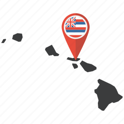 america, hawaii, map, navigation, state, us icon