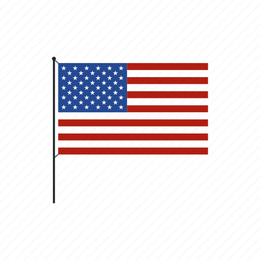 american, flag, holiday, independence, july, pole, usa icon