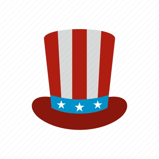 america, american, hat, independence, july, top, usa icon