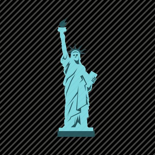 american, freedom, landmark, liberty, monument, statue, usa icon