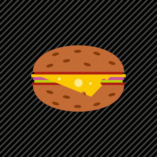 beef, bun, burger, food, hamburger, sandwich, snack icon
