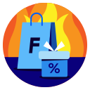 black friday, clearance, discount, price, promotion, sale, shopping icon