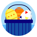day, decoration, easter, egg, eggs, greeting, ornament icon