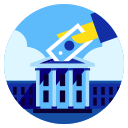 deposit, financial, government, investment, payday, tax, tax day icon