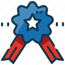 medal, reward, star, state, united, usa icon