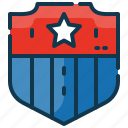 protection, shield, star, state, united, usa icon