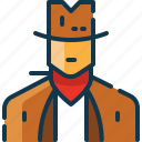avatar, cowboy, man, state, united, usa icon