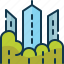 american, building, central, park, tower, tree, usa icon