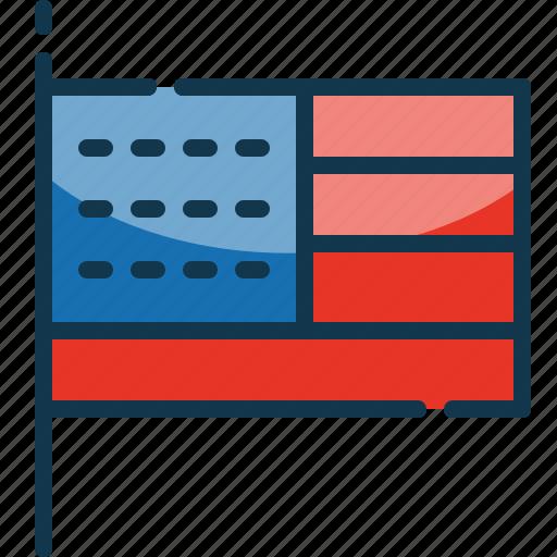 flag, state, united, usa icon