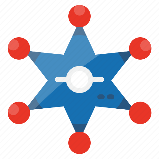police, secure, star, state, united, usa icon