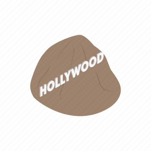 california, city, hollywood, industry, isometric, travel, usa icon