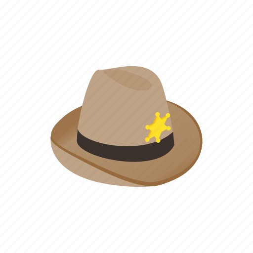 american, cowboy, hat, isometric, sheriff, west, western icon
