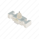 isometric, usa, government, house, washington, architecture, america