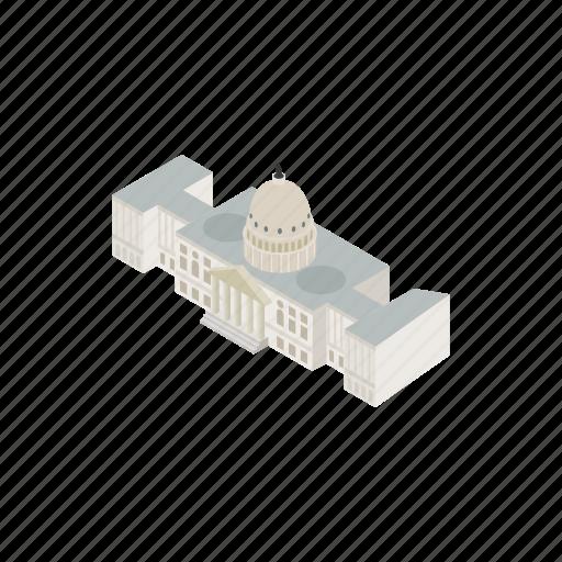 america, architecture, government, house, isometric, usa, washington icon