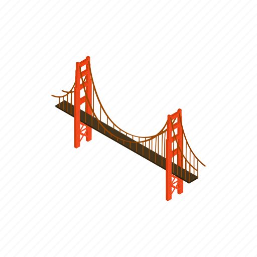architecture, bridge, brooklyn, isometric, new, travel, usa icon