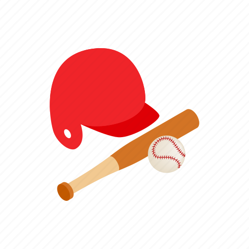 Ball, baseball, bat, game, isometric, leisure, sport icon - Download on Iconfinder