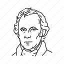 president, twelfth president, usa, zachary taylor icon