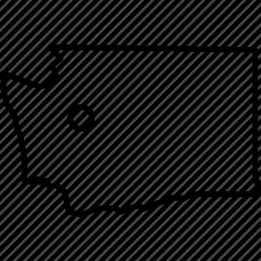 america, city, federal, republic, seattle, state, washington icon