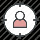 customers, focus, target, target audience icon