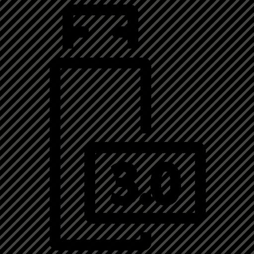3.0, device, plug, usb icon