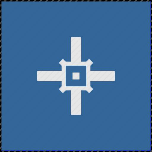 aim, blue, cursor, deep, square, target icon