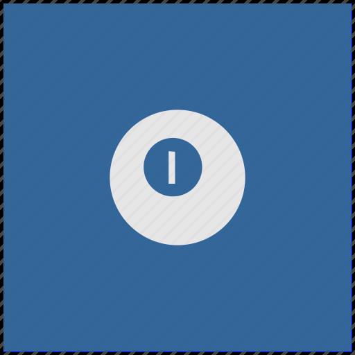 ball, billiard, blue, deep, game, square icon