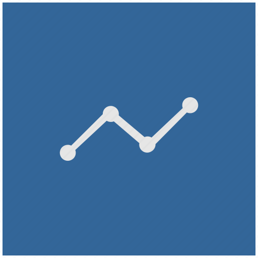 blue, chart, data, deep, grow, square icon