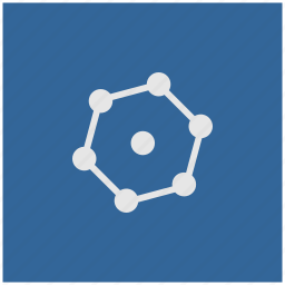 blue, complex, deep, figure, geometry, square icon