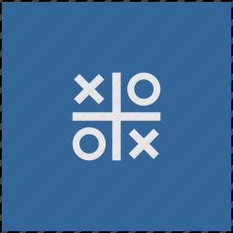 blue, cross, deep, game, square, zero icon