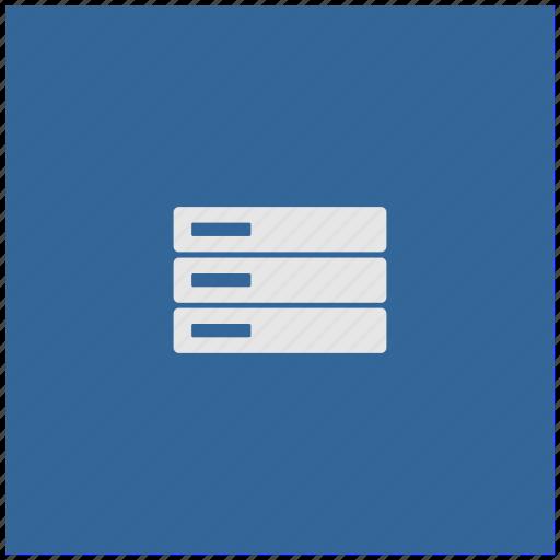 blue, database, deep, server, square, storage icon