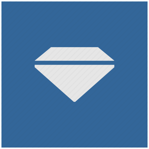 blue, brilliant, deep, diamond, square icon
