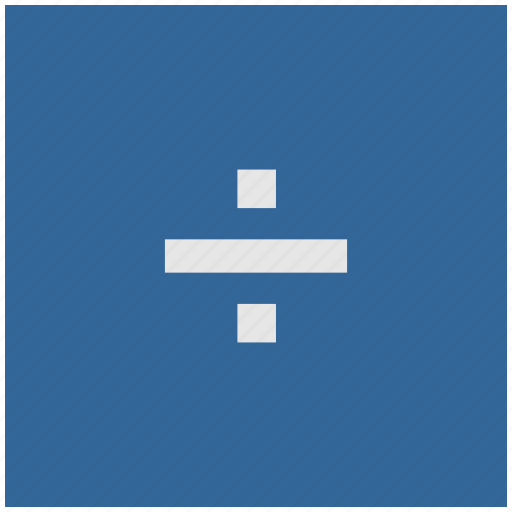 blue, deep, divide, function, math, square icon