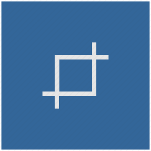 blue, crop, deep, edit, square, tool icon