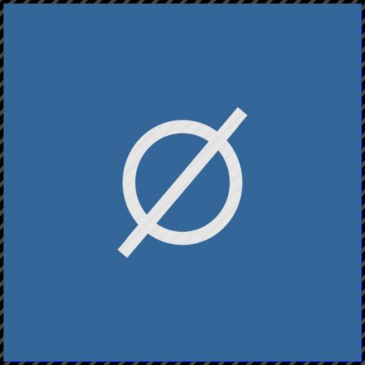 blue, deep, empty, mathematics, set, square icon