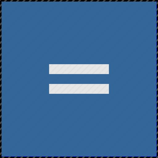 blue, deep, equal, function, math, square icon