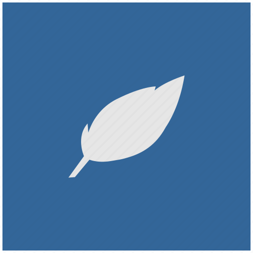 art, blue, deep, feather, pen, square icon
